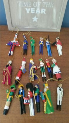 Clothespin ornaments 1973