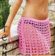 Crochet Beach bralette top and skirt pattern Only in Pdf file.