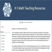 Free math teaching resources, math games, center activities and math journal tasks  for K-5 aligned with the Common Core State Standards for Mathematics.