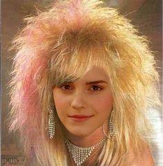 celebrities 80s hair Emma Watson
