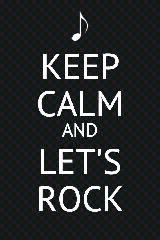 Vida virtual - Series -Livros - Filmes - Musicas: Keep Calm and Let's Rock #rock