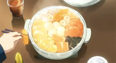 Shared by ドミニク ♫. Find images and videos about gif, food and anime on We Heart It - the app to get lost in what you love. Anime Bento, Think Food, I Love Food, Aesthetic Food, Aesthetic Anime, Aesthetic Videos, Real Food Recipes, Yummy Food, Food Wallpaper