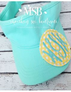 Monogrammed Raggy Patch Visors