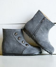 Take a look at this foxpaws Gray Tessa Suede Ankle Boot on zulily today!
