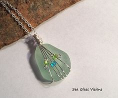 Sea Glass Jewelry Pendant Necklace Wire by SeaGlassVisions
