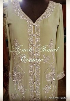 Formal Wear, Tunic Tops, Couture, Green, Silver, How To Wear, Fashion, Haute Couture, High Fashion
