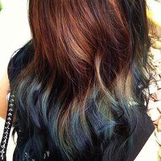 brown to dark blue