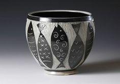 sgraffito tecnique pottery | ... Conklin, Boulder potter, salt-fired pottery using sgraffito technique