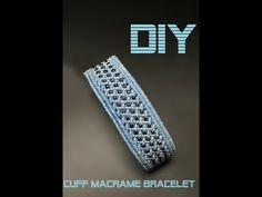 This is one cuff beaded bracelet. Pretty much easy to make it and can be perfect accent to specific outfit. Chevron Friendship Bracelets, Friendship Bracelets Tutorial, Bracelet Tutorial, Beaded Bracelet Patterns, Crochet Bracelet, Macrame Patterns, Macrame Jewelry, Macrame Bracelets, Macrame Knots
