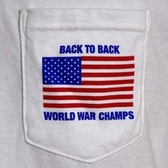 Back to Back World War Champs Pocket Tee Shirt