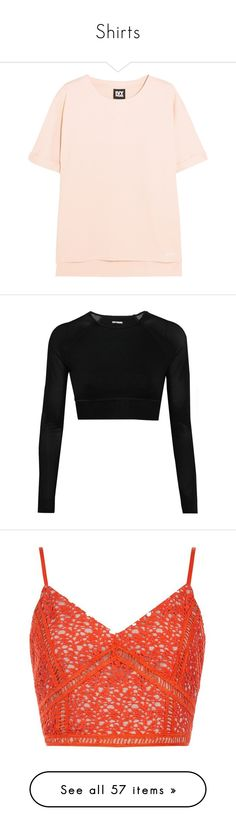 """""""Shirts"""" by ceceliajoness12356 ❤ liked on Polyvore featuring tops, hoodies, sweatshirts, shirts, ivy park, t shirt, pink sweatshirts, layered tops, relaxed fit tops and cotton jersey"""