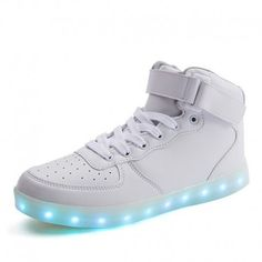 Kids Up Boots With Usb Charging White / Black