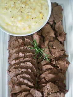 Rosbife de Filet Mignon com Creme de Milho | Figos & Funghis