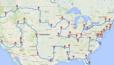 According To Science, This Is The Perfect And Best Road Trip You Can Possibly Take! This road trip allows you to start in any state. Just hop on at the point that runs through your state and keep going until you're back at your starting point!