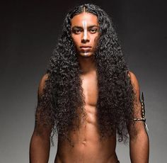 Men with very long hair. Long Curly Hair, Curly Hair Styles, Natural Hair Styles, Black Men Hairstyles, Haircuts For Men, Pinterest Design, Curl Styles, Very Long Hair, Men With Long Hair