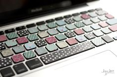 Cover your MacBook keyboard with washi tape | Hey Love Designs