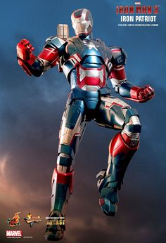 Hot Toys : Iron Man 3 - Iron Patriot 1/6th scale Limited Edition Collectible Figurine