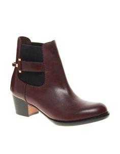 Ted Baker Jureo Burgundy Heeled Chelsea Boots