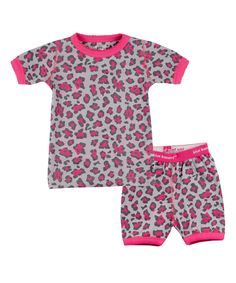Love this Blue Banana Pink Leopard Short-Sleeve Pajama Set - Infant, Toddler & Girls by Blue Banana on #zulily! #zulilyfinds