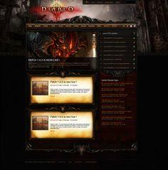 Diablo 3 Ultimate webspell template by mazzery.deviantart.com on @deviantART