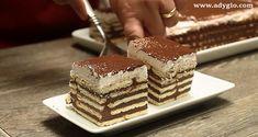 Prajitura fara coacere cu ciocolata si frisca reteta - Adygio Kitchen Tiramisu, Biscuit, Ethnic Recipes, Food, Essen, Meals, Crackers, Tiramisu Cake, Yemek