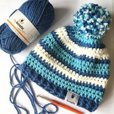 Beautiful and cute free crochet patterns hats for 2019 - Page 50 of 56 . Crochet Baby Cocoon, Free Crochet Bag, Crochet Baby Clothes, Crochet Baby Hats, Crochet Beanie, Crochet Gifts, Knitted Hats, Crochet For Boys, Love Crochet