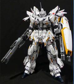 """MG 1/100 Sinanju """"Pegasus"""" Custom Build - Gundam Kits Collection News and Reviews"""