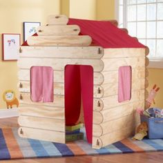 The Log Cabin House! They sold out of this last year & I couldn't find it anywhere Glad it is Back!  from Land of Nod