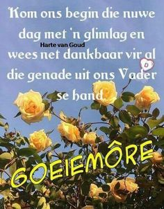 Good Morning Wishes, Morning Messages, Goeie Nag, Goeie More, Afrikaans Quotes, Prayer Board, Prayers, Lilac, Spiritual