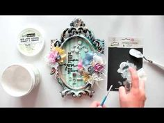 """Видео МК - Рамка""""Altered Frame tutorial for Finnabair CT"""""""