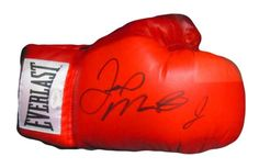 Floyd Mayweather Jr., Autographed Everlast Red Boxing Glove in Black signature with JSA certification