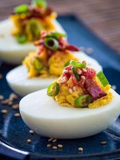 Miso Deviled Eggs