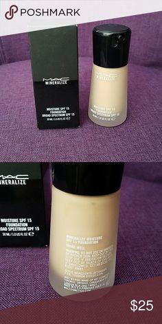 NEW MAC MINERALIZE MOISTURE SPF15 FOUNDATION NC15 NEW. Never used. MAC Cosmetics Makeup Foundation