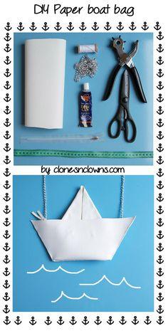 paper boat clutch diy