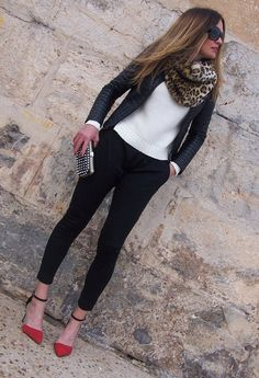 32 Street Style Look With Leopard Print Details