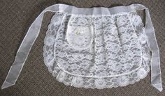 Apron:  Vintage lace apron Aprons Vintage, Vintage Lace, Lace Shorts, Attitude, Classy, Fun Diy, Sewing, Pouches, Fabric