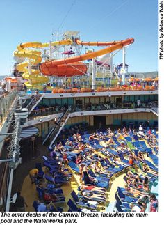 Carnival Breeze main pool and water park