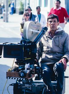"filmhall: "" Leonard Nimoy on the set of Star Trek IV: The Voyage Home """