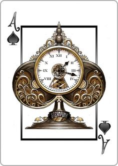 steampunk-ace-of-spades-mechanical-clock-tower-find-our-playing-with-bicycle-thieves-tattoo.jpg (729×1024)