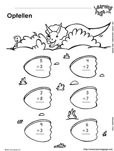 Dinosaur Number Line Addition & Subtraction Within 10 4