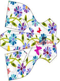 Flores: Zapatos de Papel para Imprimir Gratis.