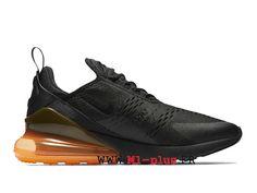 info for 67aa6 92766 Nike Air Max 270 Flyknit Officiel Chaussures de course Prix Pas Cher Homme  Noir Orange