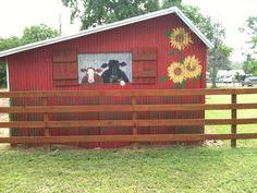 Painted Barn in Magnolia, Texas