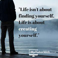 A VIDA é criares-te a Ti próprio...