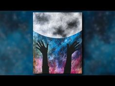 Honor the Moon Step by Step Acrylic Painting on Canvas for Beginners - YouTube