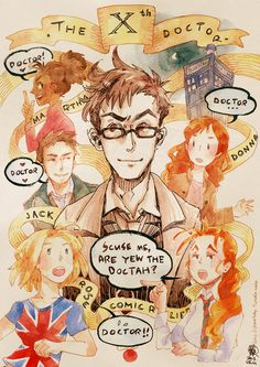 The 10th Doctor by starstray @ tumblr