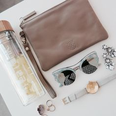 "Stephanie Lim △ on Instagram: ""needs for a hot #summer day • clutch from @stitchandhide 
