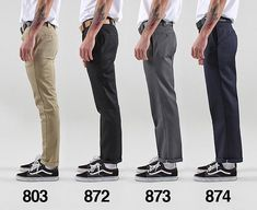 Its a common question, How do Dickies Work Wear Pants fit? We have compiled a Dickies Work Wear pant Mode Outfits, Retro Outfits, Fashion Outfits, Mens Fashion Pants, Stylish Outfits, Fashion Fashion, Fashion Ideas, Vintage Outfits, Trouser Outfits