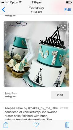 LoVe this. Maybe with a dream catcher/feathers instead of teepee on cake topper? This colour theme