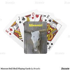 Missouri Bull Skull Playing Cards